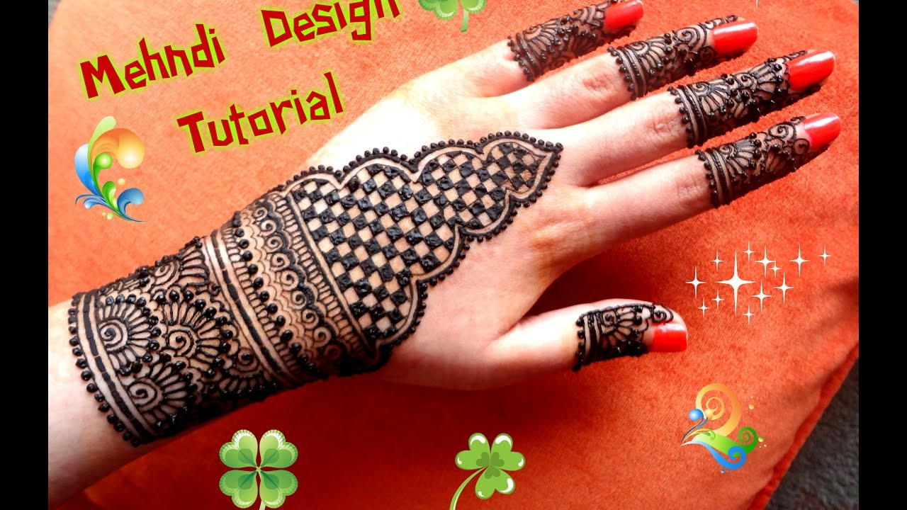 How To Apply Easy Simple Henna Mehndi Designs For Hands Tutorial For