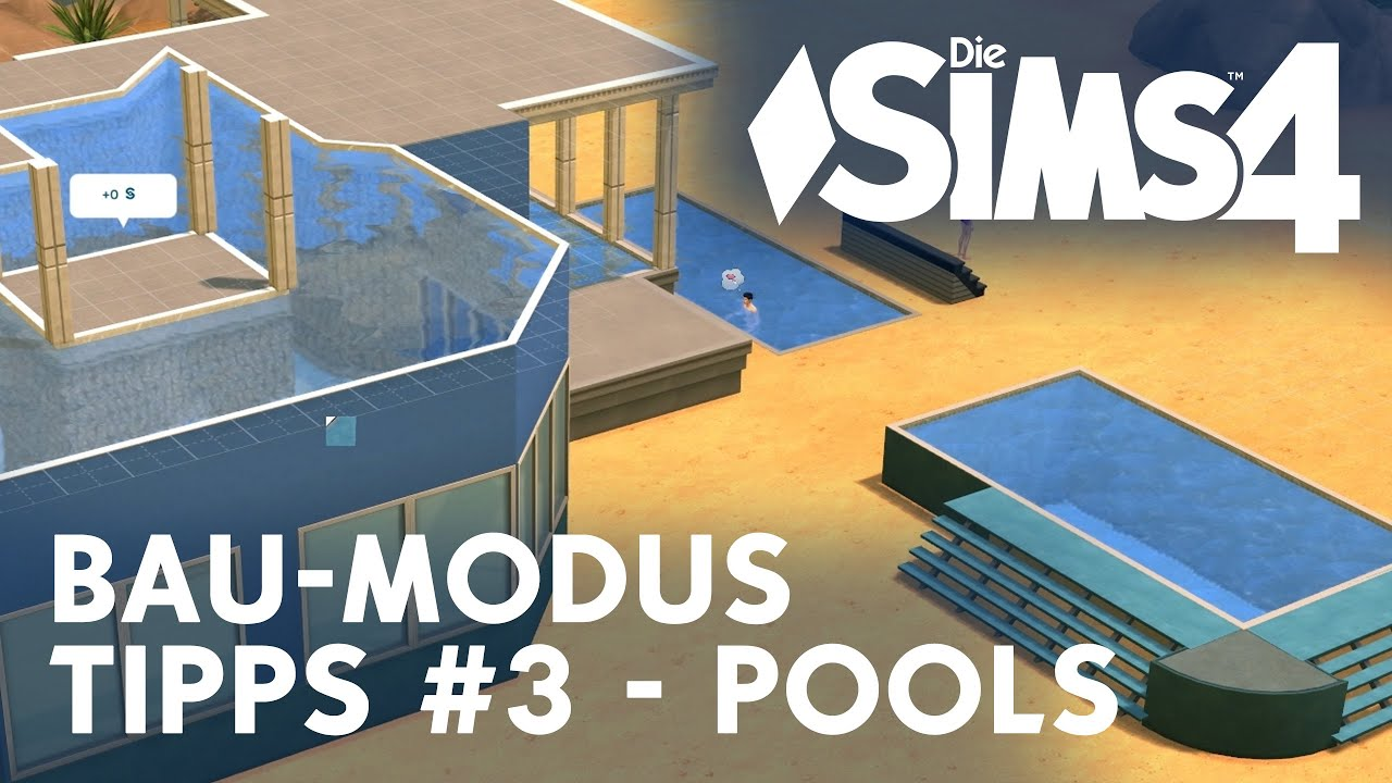 Die Sims 4 Bau-Modus Tipps #3 - Pools - YouTube