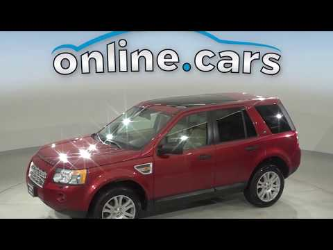 G13792FP Used 2008 Land Rover LR2 SE 4WD Red Suv Test Drive, Review, For Sale