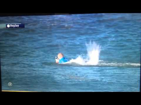 Mick Fanning shark attack. World Surf League final
