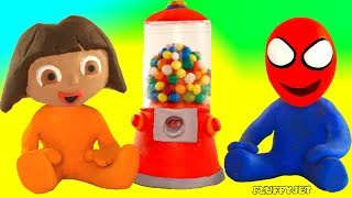 Superhero Babies & Candy Play Doh Cartoons For Kids