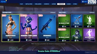 🔴 *NEW* DOUBLECROSS Skin, FIREWORKS Wrap - July 4th Fortnite Daily Item Shop 🌊
