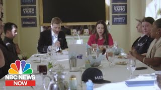 Meet The People Getting $1,000 A Month From Andrew Yang's Campaign | NBC News NOW Video