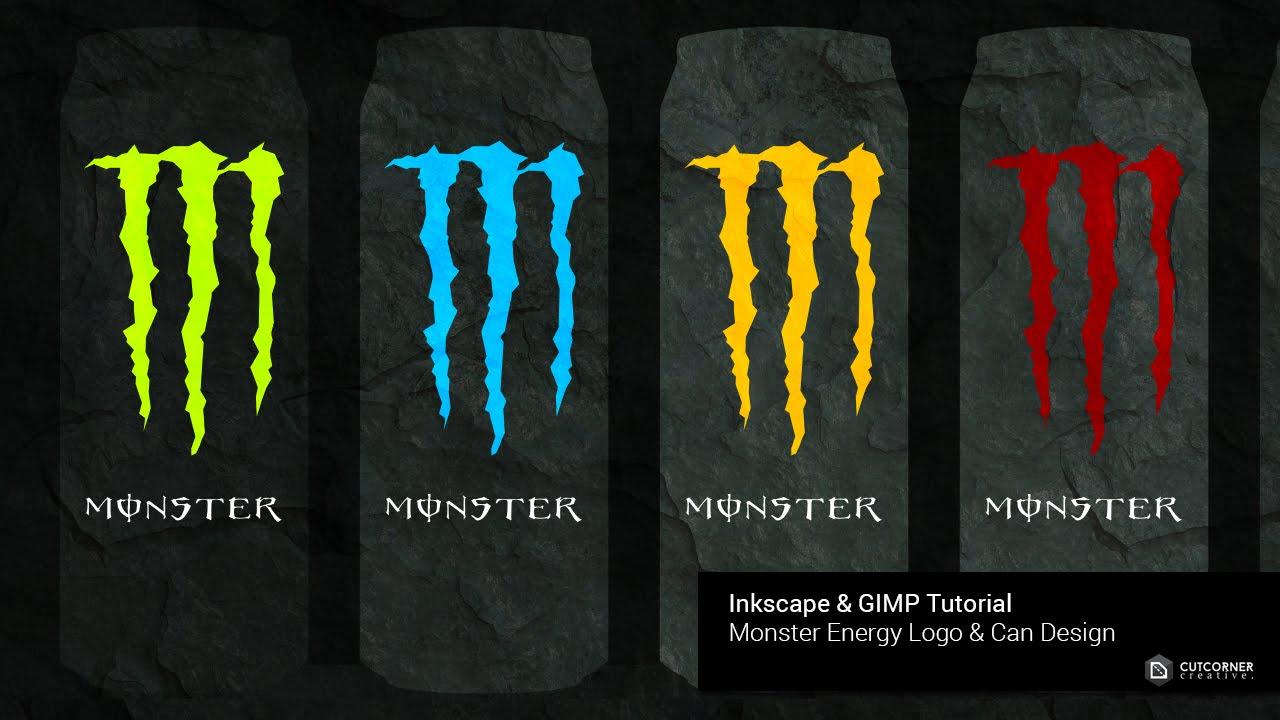 Draw A Monster Energy Logo Using Inkscape - YouTube  Monster