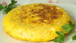 La mejor Tortilla de patata y cebolla. TORTILLA ESPAÑOLA.  Receta de cocina.