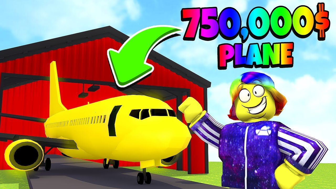 Plane Roblox Avatar I Started Tofuu Airlines With The 750 000 Private Jet Roblox Youtube