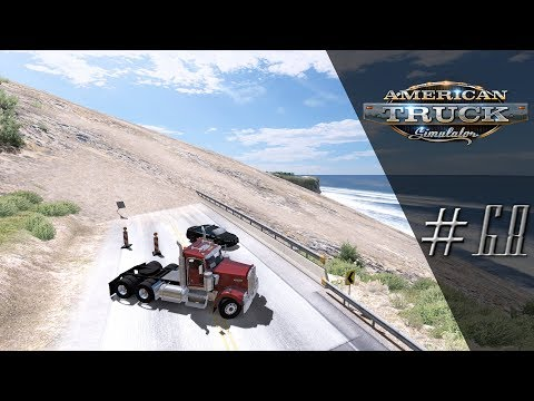'Lets Play' American Truck Simulator - LANDSLIDE DISASTER! - #68