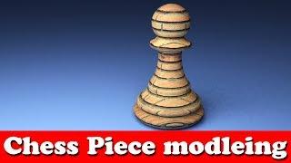 Blender modeling tutorial: chess piece ||modeling in blender