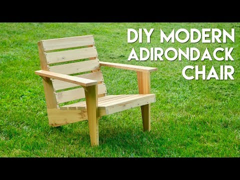 DIY Modern Adirondack Chair | How To Build - Woodworking