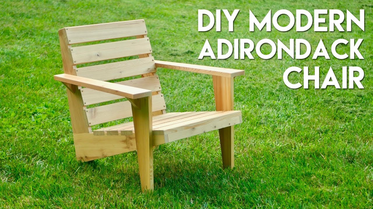 DIY Modern Adirondack Chair | How To Build - Woodworking : modern adirondack chairs - lorbestier.org