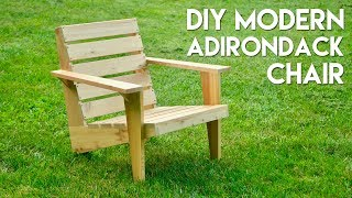 Plans: https://craftedworkshop.com/store/diy-modern-adirondack-chair-plans In this video, I show you how to build a DIY modern