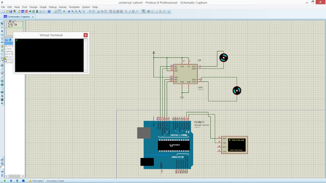 Bluetooth L293d Dc Motor Simulation Using Arduino And