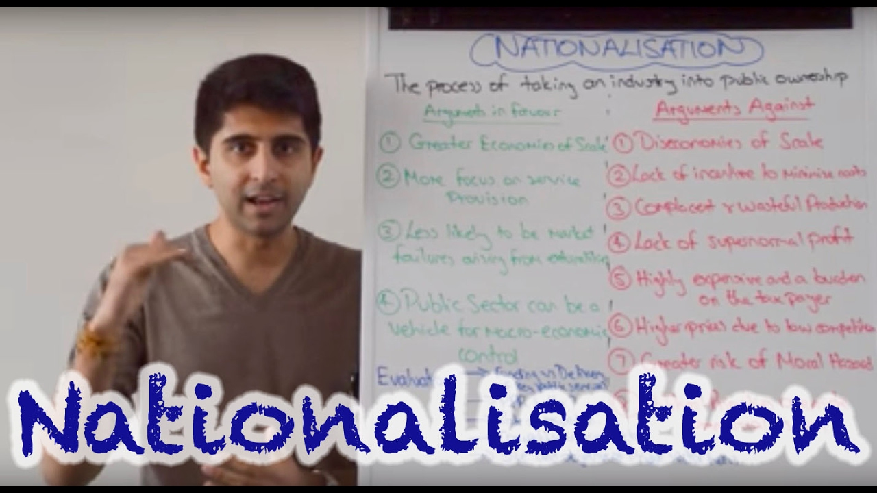 advantages and disadvantages of nationalisation