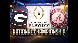 2018 College Football Championship Simulation - Alabama Crimson Tide vs Georgia Bulldogs