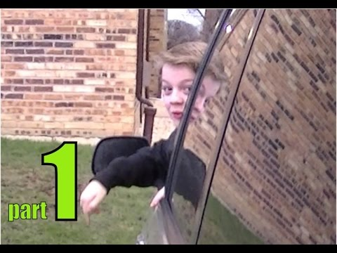 PSYCHO 12 YEAR OLD KID STEALS CAR, SMASHES TV PART 1 OF 3!!!
