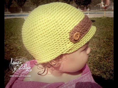 Tutorial Gorro Niño Crochet o Ganchillo Baby Hat (English Subtitles ...