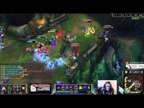 Bjergsen duo Doublelift - Kassadin vs Leblanc Mid - League of Legends Gameplay