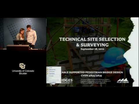 CVEN 5835 Technical Site Selection and Surveying - Sample Lecture