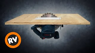 Homemade TABLE SAW with CIRCULAR SAW - Building 3 in 1 Workshop - Part 1