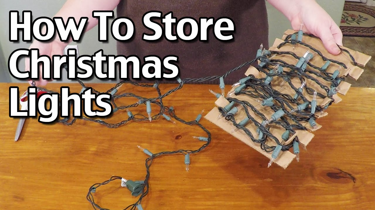 how to organize and store christmas lights
