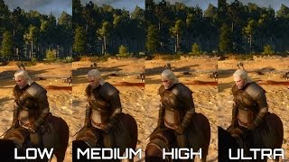 Witcher 3 PC Graphics Comparison - Low vs Medium vs High vs Ultra 60FPS