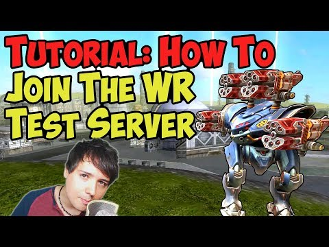 War Robots How To Join Test Server Tutorial & WR Gameplay - Sign Up