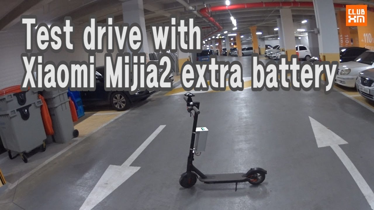 Xiaomi mijia2 m365 test drive with final version extra battery youtube