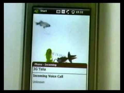 Sony Ericsson XPERIA X1 fish panel