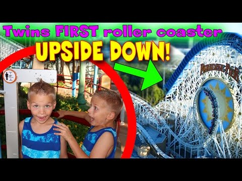 TWINS FIRST UPSIDE DOWN ROLLER COASTER! 🎢 California Screamin at Disneyland