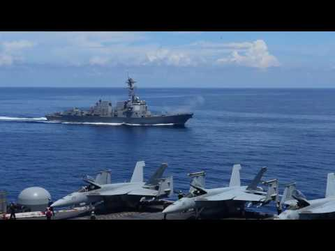 Air-and-Sea-Power Demonstration by the U.S. Navy