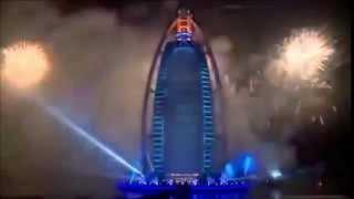 Le plus grand feu d'artifice année 2015 a Dubaï