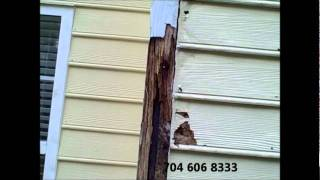 Home Inspector Charlotte Reveals Chimney Rotten Siding Corner Boards Moisture