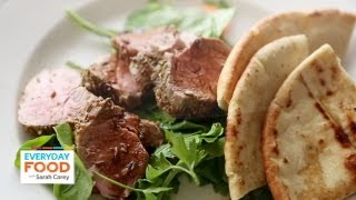 Fennel-Crusted Pork Tenderloin with Crisp Pita | Everyday Food with Sarah Carey