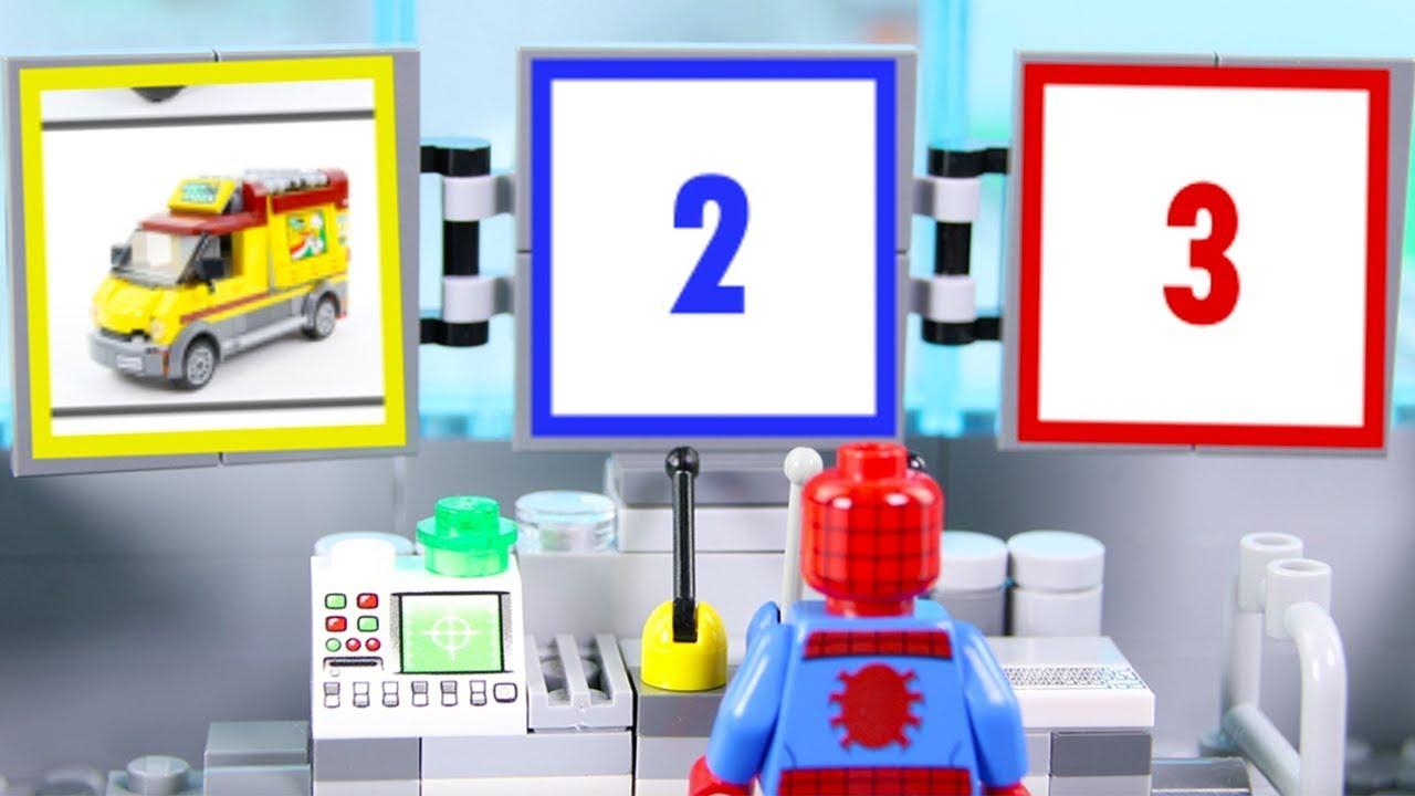 LEGO Spiderman Experimental Cars, Trucks, Pizza Monster Truck   LEGO Videos for Kids   Billy Bricks