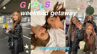 weekend in my life! hotel getaway w my best friends 💗 (get ready with us, dinner + take pics)