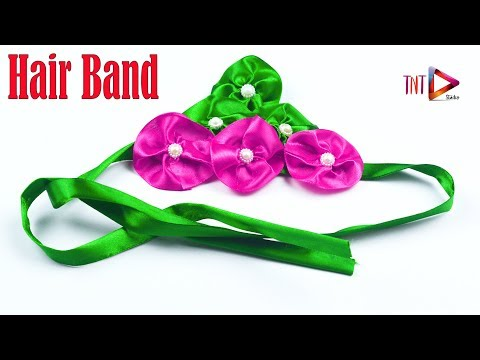 DIY Ribbon Flowers Headband for Babies and Toddlers   Ribbon Hair Bows Hairstyle
