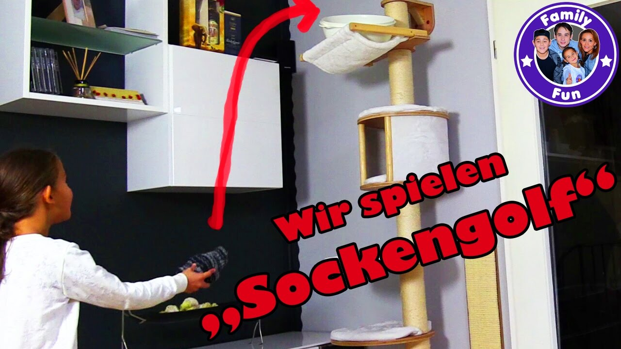 crazy minigolf sockengolf mega lustige spielidee f r zuhause family fun youtube. Black Bedroom Furniture Sets. Home Design Ideas