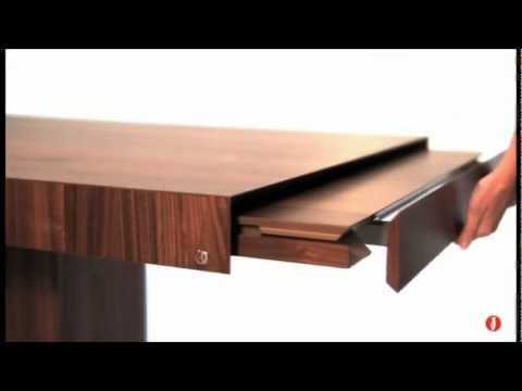 Calligaris Park Dining Table in Wood - YouTube
