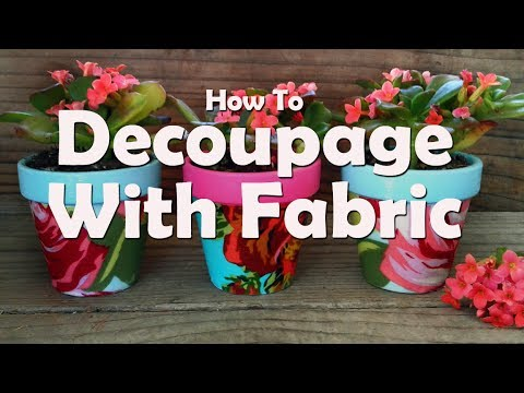DIY Craft Tutorial How To Decoupage With Fabric And Mod Podge
