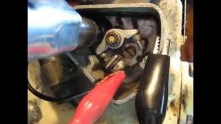 controler les rupteurs ou vis platinees .allumage moteur BERNARD.bernard w 328.