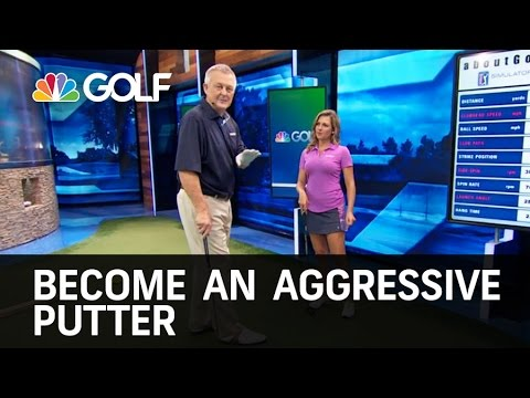 Aggressive Putting Drill – School of Golf | Golf Channel
