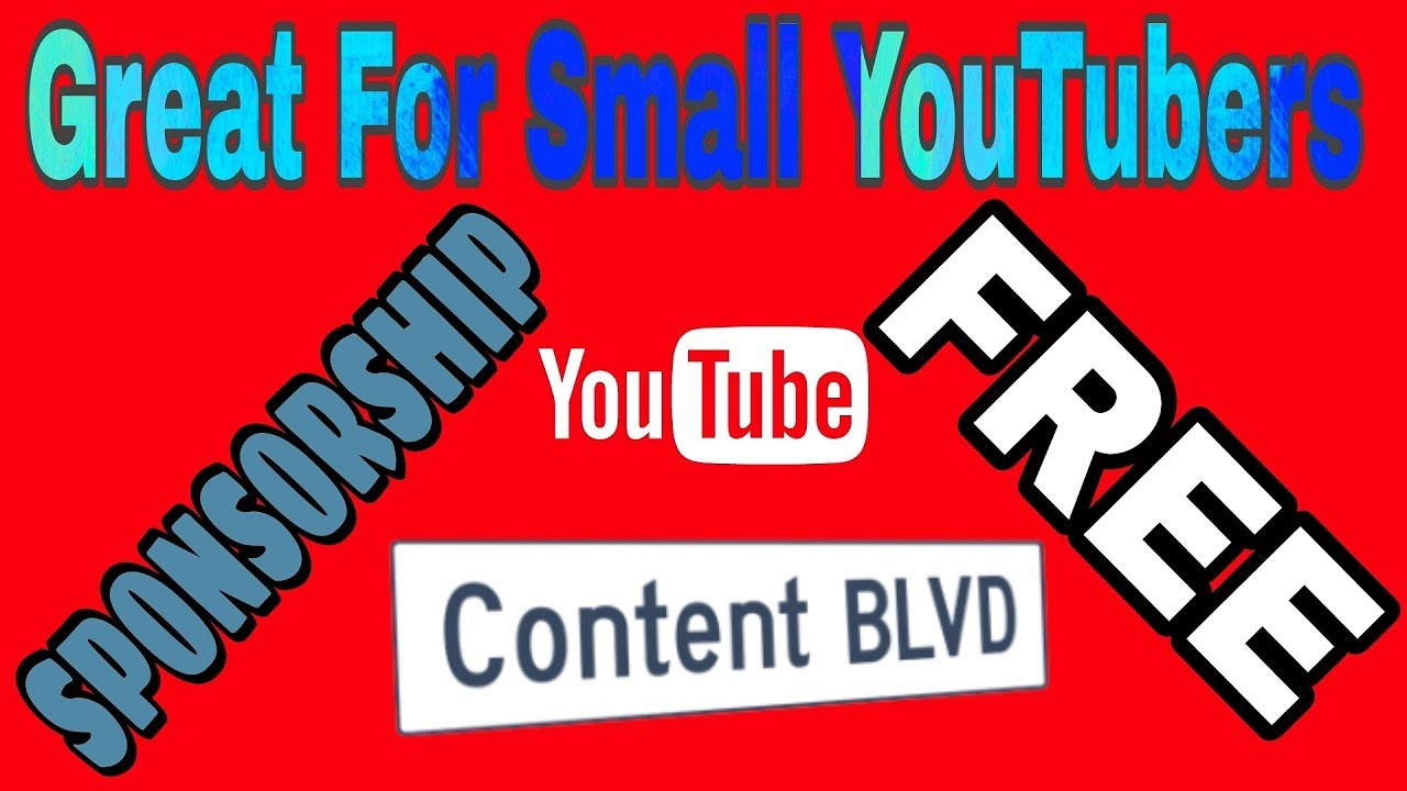 Content BLVD SPONSORSHIP | Small YouTubers - YouTube