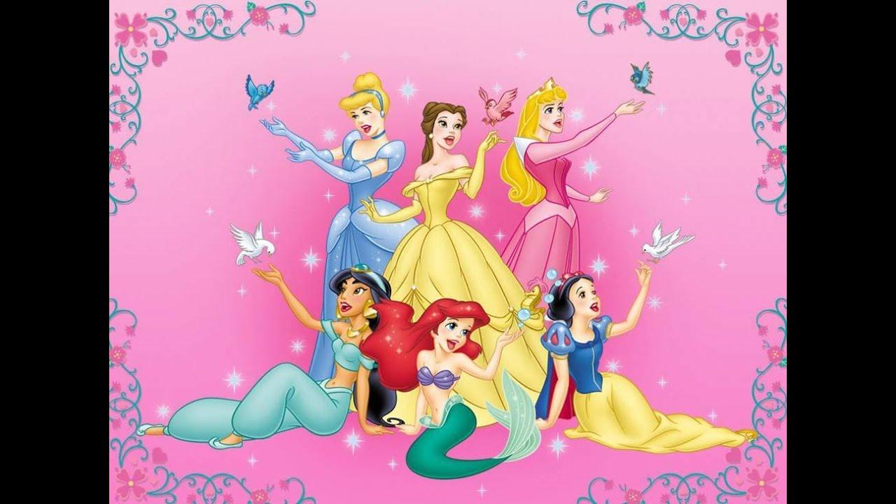 Ideias festa princesa Disney YouTube # Decoração De Festa Das Princesas Da Disney