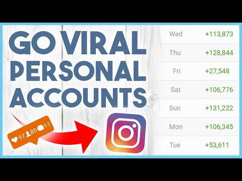 😏 HOW TO GO VIRAL ON INSTAGRAM 2018 - PERSONAL ACCOUNTS 😏