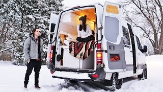 SURVIVING WINTER VAN LIFE // preparing our van for the cold