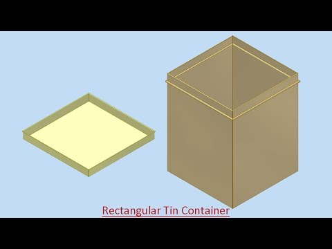 Rectangular Tin Container (Video Tutorial) Autodesk Inventor