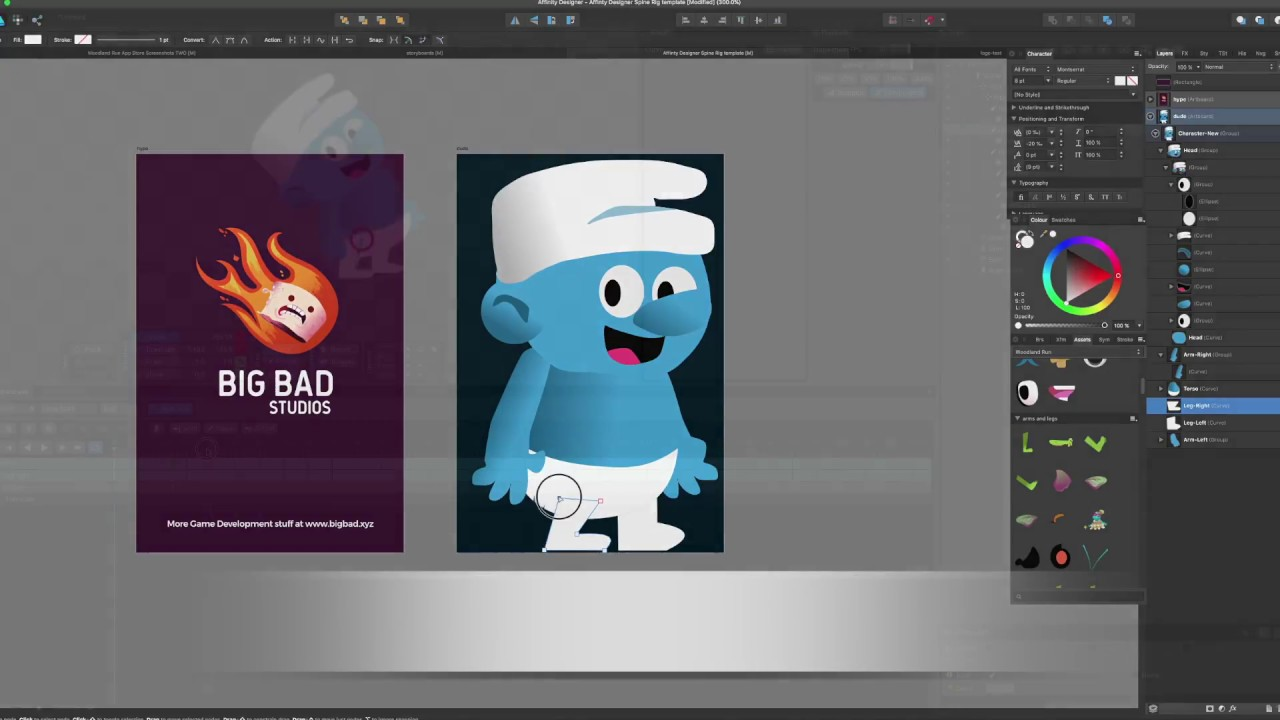 Creating Spine animations with Affinity Designer