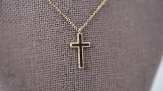 14K Gold Cross necklace (말씀각인 …