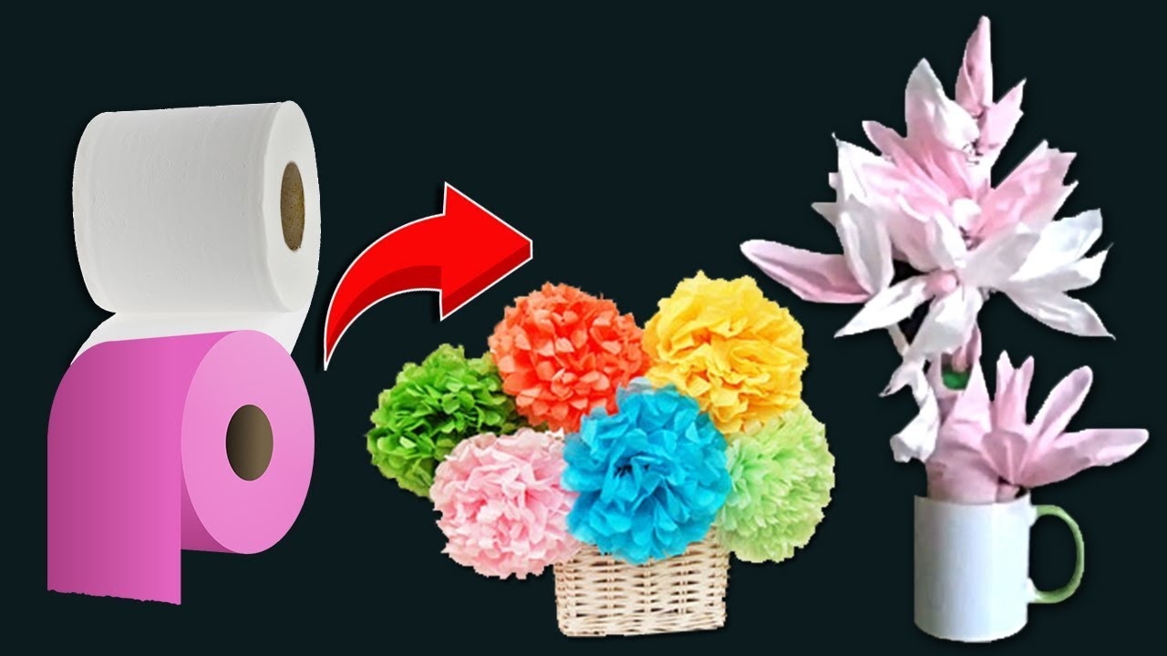 how to make flower vase at home with tissue paper tissue paper flowers
