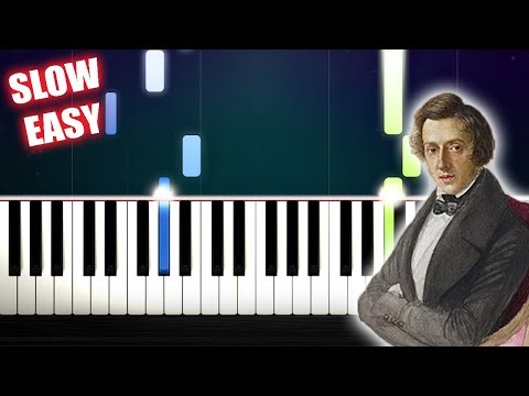 Chopin - Nocturne Op. 9 No. 2 - SLOW EASY Piano Tutorial by PlutaX